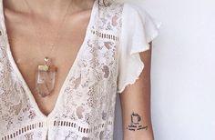 ..a bohemian Quartz, Lace dress & Tattoo ..☮ Pinterest: bohojodi ☼