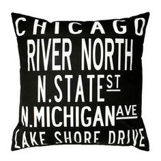Chicago Pillow 20x20
