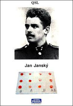 Prof. MUDr. Jan Janský (April 3, 1873, Prague – September 8, 1921) was a Czech serologist, neurologist and psychiatrist. He is credited with the first classification of blood into the four types (A, B, AB, O) of the ABO blood group system.