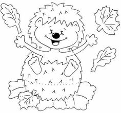 1 million+ Stunning Free Images to Use Anywhere Fall Paper Crafts, Autumn Crafts, Diy And Crafts, Felt Patterns, Craft Patterns, Animal Coloring Pages, Coloring Books, Hedgehog Craft, Rena