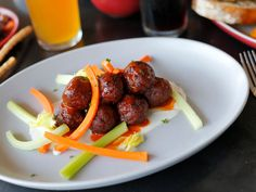 Phoenix: Culinary Dropout : A gastropub in Phoenix with cheeky attitude and uniform-free staff is home to the mash-up known as Buffalo chicken meatballs. Chef Clint Woods uses dolce Gorgonzola and celery leaf to give the familiar Buffalo wing flavor to some spicy meatballs. The rest of the menu features a mishmash of Italian food, barbecue, soups, salads and sandwiches.
