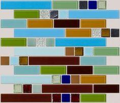Modern Retro Series 2 - Metro Retro Layouts - Mosaic Designs By Tile Layout - Glass Tile Mosaic Designs & Blends - Shop