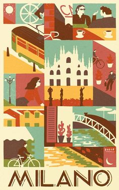 An entry for a competition to show Milan from a cyclist's perspective.
