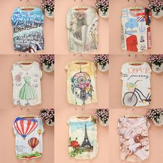 Cheap tshirt ladies, Buy Quality tshirt types directly from China tshirt blouse Suppliers:  promotion sale women's t shirt 2014 summer dress women new design tees fashion style ladies tops novelty print tshirt w