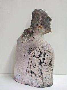 MIKE MORAN - ceramic figurative sculpture - Sculpturesite Gallery