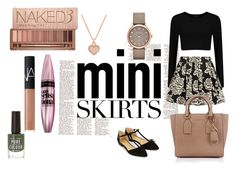 """Mini Skirt"" by ashleabenson17 ❤ liked on Polyvore featuring Zibi London, Michael Kors, Marc by Marc Jacobs, Accessorize, Urban Decay, Maybelline and NARS Cosmetics"