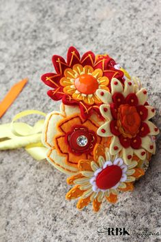 Custom Embroidered Felt Bouquet Set by RBKCreations on Etsy, $425.00