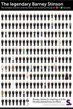 The legendary Barney Stinson. The complete overview of all the outfits worn by Barney through all 2 to 8 episodes Best Tv Shows, Best Shows Ever, Favorite Tv Shows, Movies And Tv Shows, How I Met Your Mother, Legendary Barney, Rap Us, Yellow Umbrella, Himym