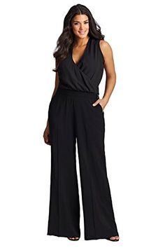 Fashion Bug Plus Size Sheer Bodice Jumpsuit 1X 2X 3X 4X www.fashionbug.us #PlusSize #FashionBug #Jumpsuits #Rompers #Playsuits