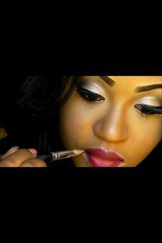Nitraa B's eye makeup !!