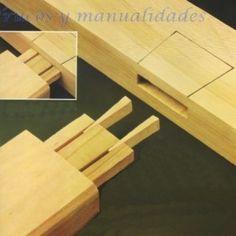 Tipos de uniones de madera con argucia.- Manualidades