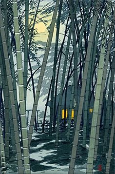 "Japanese Art Print ""Bamboo in Early Summer"" by Kasamatsu Shiro. Shin Hanga and Art Reproductions http://www.amazon.com/dp/B00XTEDR9K/ref=cm_sw_r_pi_dp_Cixswb1CCSQ5J"