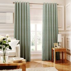 Whiteheads Loretta Teal Lined Eyelet Curtains- at Debenhams.com £79 for 229x183 (in sale)