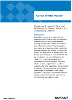 The Shared Services & Outsourcing Network White Paper, Paper Design, Success