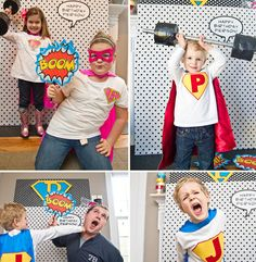 Photo Booth Ideas. Super hero theme