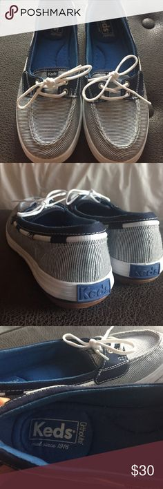 Keds boat shoes ⛵️ Worn once, just not my style. Excellent condition. Ortholite inserts so super comfy Keds Shoes Flats & Loafers