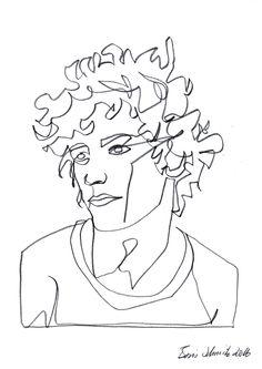 """Gaze 455"", continuous line drawing by Boris Schmitz"