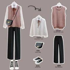 Korean Fashion Kpop Inspired Outfits, Korean Outfit Street Styles, Korean Girl Fashion, Korean Fashion Trends, Kpop Fashion Outfits, Korean Street Fashion, Ulzzang Fashion, Korean Outfits, Cute Casual Outfits