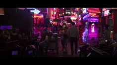 True Skin by Stephan Zlotescu. Neon city. A lot of movement and strong neon colors that goes along with the rest of the color scheme in the movie.