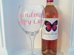Personalized Grandmas Sippy Cup Wine Glass by YouniquelyElegant, $12.00