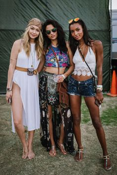 Gigi Hadid and friends | Coachella Street Style Outfits - Best Dressed 2015 | NYLON