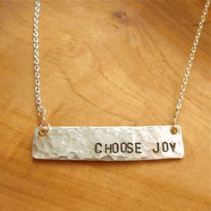 Choose Joy, Joseph Campbell Quote Necklace by Becoming Jewelry