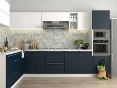 Kitchen Room Design, Kitchen Cabinet Design, Interior Design Kitchen, Kitchen Ideas, Kitchen Cabinets, Module Design, Kitchen Chimney, Small Modern Kitchens, Latest Kitchen Designs
