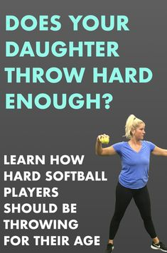 How hard should a player be throwing? Learn common speeds with drills to improve throwing velocity in this article! Softball Coach Gifts, Softball Players, Girls Softball, Softball Things, Softball Stuff, Cheerleading Gifts, Basketball Gifts, Baseball Mom, Softball Pitching Drills