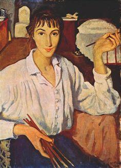 Self-Portrait (1921). Zinaida Serebriakova (via thereisaqueeninchina and Mudwerks)