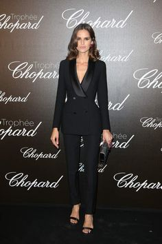 Trophies chopard cannes 2017 the amazing combi of marion cotillard. S generous Suit Fashion, Look Fashion, Fashion Outfits, Womens Fashion, Vest Outfits For Women, Pants For Women, Clothes For Women, Looks Street Style, Looks Style
