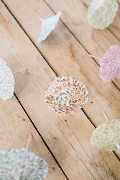 The sweetest washi tape cocktail umbrellas