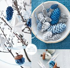 Woodland-inspired blue Christmas by Paul Lowe