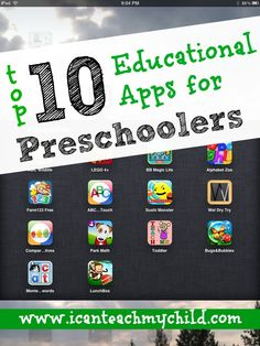 Apps for Preschoolers - I Can Teach My Child! Top 10 Educational Apps for Preschoolers. {I Can Teach My Child!}Top 10 Educational Apps for Preschoolers. {I Can Teach My Child! Preschool Learning, Learning Tools, Preschool Activities, Kids Learning, Preschool Kindergarten, Learning Spanish, Abc Learning Games, Reading Games, Learning Italian