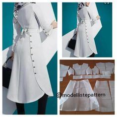Dress pattern with combination skirt .No photo description available. Trendy Dresses, Modest Dresses, Simple Dresses, Cute Dresses, Formal Dress Patterns, Dress Sewing Patterns, Clothing Patterns, Frock Fashion, Fashion Sewing