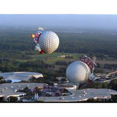 Spaceship Earth takes to the air.