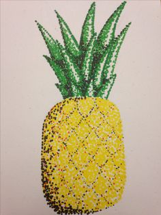 Pineapple Pointillism!