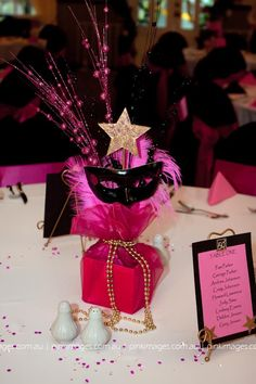 (Masquerade Center Piece)  personalize colouring  great small idea