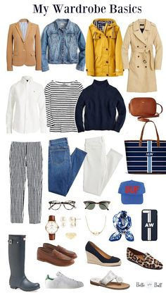 My Wardrobe Basics 3 Campus Looks // Belle of the Ball Preppy Wardrobe, Wardrobe Basics, My Wardrobe, Capsule Wardrobe, Basic Wardrobe Essentials, College Wardrobe, Professional Wardrobe, Classic Wardrobe, Wardrobe Ideas