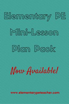 K-5 PE Mini-Lesson Plan Pack; includes lesson plans for one month; activity descriptions; NASPE standards and equipment list.  Your month is planned!!  :)