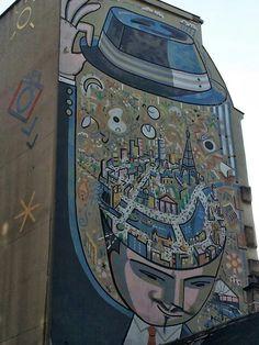 L homme au chapeau . Paris