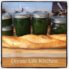 We made sooo much pesto last night at the Cooking Circle. This is just the leftovers ! Pesto all day everyday! #homemade #divinelifekitchen #urbanhomesteading #masonjarlife