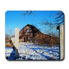 Old Barn in Winter Mouse Pad ($15.99)