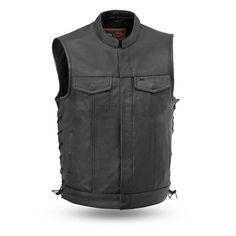 First Manufacturing Sniper Vest Lightweight Motorcycle Jacket, Motorcycle Leather Vest, Black Leather Vest, Cowhide Leather, Leather Men, Biker Vest, Jacket Men, Gorgeous Black Men, Raw Denim