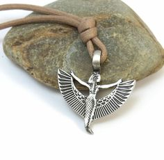 Isis Necklace - Winged Isis Pendant, Ancient Egyptian Jewelry by StormyRoad on Etsy https://www.etsy.com/listing/160867593/isis-necklace-winged-isis-pendant