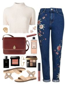 """Tula nectar"" by sophiehackett ❤ liked on Polyvore featuring Topshop, Rachel Comey, NARS Cosmetics, Chanel, Serge Lutens, Bobbi Brown Cosmetics, Windsor Smith, Tula, tarte and Allurez"
