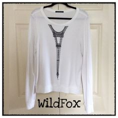 """▪️✨WildFox """"Eiffel Tower"""" BBJ/Sweatshirt✨▪️ From one of my Fave Posh Gals. Adorable Wildfox Sweatshirt. I just don't wear it enough. Well cared for and in excellent condition. Size Medium Wildfox Tops Sweatshirts & Hoodies"""