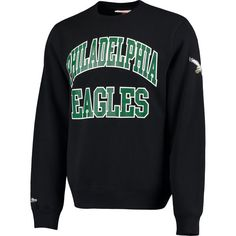 509022f6965 Men's Philadelphia Eagles Black Mitchell & Ness Start of the Season Fleece  Sweatshirt