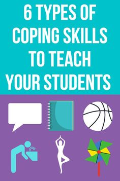 Are you working on coping skills with your elementary students? Teach them these 6 types of coping skills to help them manage their anger, anxiety and other strong feelings. These different types of coping skills will help kids feel calm in whatever situation they are in. They are great to include in your coping skills small groups or when working with students individually on anger management or anxiety. Coping Skills Activities, Emotions Activities, Strong Feelings, Feelings And Emotions, Common Phrases, Positive Self Talk, Emotional Regulation, Help Kids, Yoga For Kids