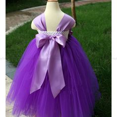 Flower Girl Dress purple Orchid tutu dress baby dress toddler birthday dress wedding dress - Flower Girl Dresses 2014 - Flower Girl Dresses