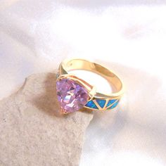 $28 DigNew Size 7 Handmade Gorgeous 14K Gold Plated RingPink by DigNew